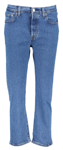 Levi's Blauwe Jeansbroek 501 HIGH RISE STRAIGHT LEG