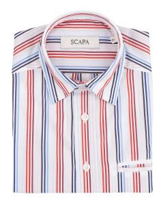Scapa Wit hemd met kleurrijke vertikale strepen Communie