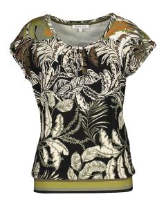 Tramontana Multicolor mouwloze T-Shirt met plantenmotief