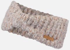 Barts Lichte beige gemêleerde hoofdband met een geknoopt detail aan de voorkant Heba