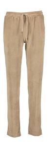 Vitamia Lounge Beige fluweelzachte broek met elastische tailleband
