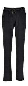 Vitamia Lounge Zwarte fluweelzachte broek met elastische tailleband