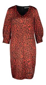 Amania Mo Rode jurk met dierenprint Berlin