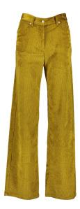 Momoni Gouden geribde wijde broek OLIVINA