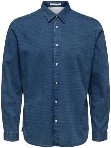 Selected Blauw sportief hemd Slim Fit