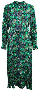 Essentiel Lange jurk met groene bloem motieven Wineglass