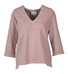 Shades Oud roze trui in ribfluweel Candice