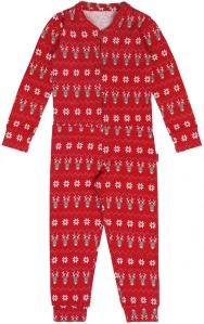 Claesen's Rode onesie met kerstmotief
