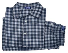 Claesen's Wit en blauw geruite pyjama