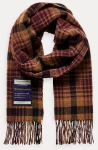 Scotch & Soda Geruite sjaals in herfstkleuren