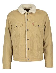 Levi's Beige jas met faux fur langsbinnen