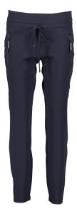 Cambio Donkerblauwe broek met elastische tailleband Jessy