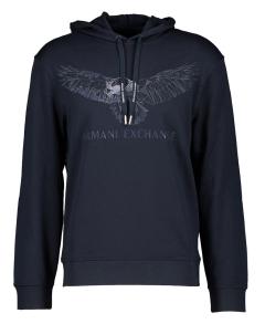 Armani Jeans  Donkerblauwe trui met opdruk Armani