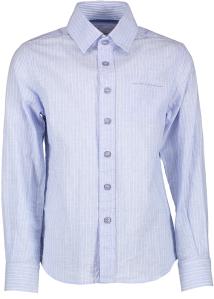 Blue Bay Lichtblauw Hemd met Fijne Witte Strepen Communie