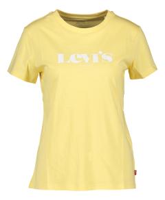 Levi's Gele t-shirt met witte letters