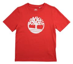 Timberland Rode t-shirt met wit logo