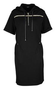 Liu Jo Zwarte jurk met goudkleurige details en kap