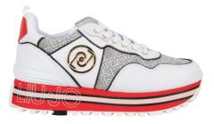Liu Jo Witte schoen met zwart, rood detail Maxi Wonder