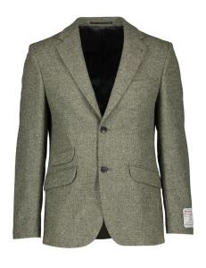 Beige, grijze blazer met bruine suède patches op elleboog LONDON Wellington of Bilmore