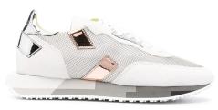 Ghoud Licht grijze sneakers met zilver en rosé detail
