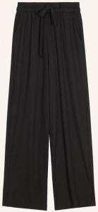 FRNCH Zwarte broek in geribbelde stof met trekkoord Pasqualine