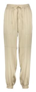 Semicouture Beige zacht glanzende broek met grote opgestikte zakken