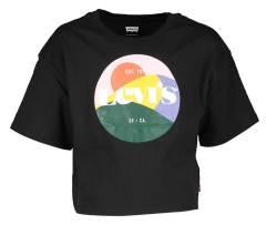 Levi's Zwarte t-shirt met kleurrijke print