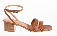 Rotta Elegante cognac bruine sandaal met enkelbandje