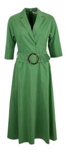 Natan edition 5 Groene elegante lange jurk met brede tailleriem Natan