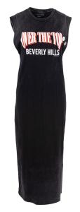 Newton Lange zwart kleed met belettering e