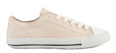 March 23 Ecru sneaker in textiel met wit rubberen zool Stella
