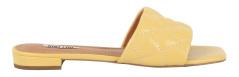 Bibi Lou Gele slipper met gestikt ruitmotief