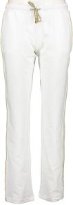 Vitamia Lounge Witte broek met gouden streep aan zijkant en accenten in print Vitamia