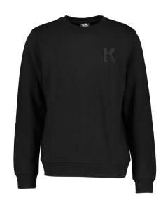 Karl Lagerfeld  Zwarte sweater met letter K op borst