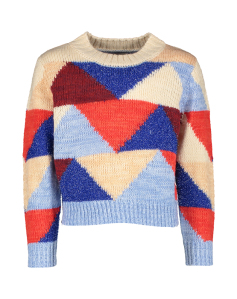 AO76 Multicolor trui met driehoeksprint AO Girls