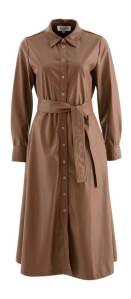 Lalotti  Bruine jurk in lederlook Lea