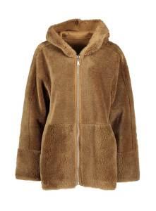 Oakwood Bruine winterjas met kap
