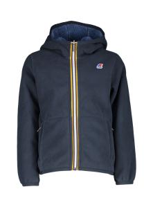 K Way Donkerblauwe reversable fleece trui met kap Kway Kids