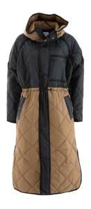 Second Female Zwart, bruine padded jas met kap  Prudence