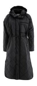 Second Female Zwarte padded mantel met kap  PRUDENCE QUILT