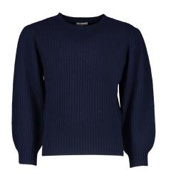 Morley Donkerblauw geribbelde trui Oriana Wool