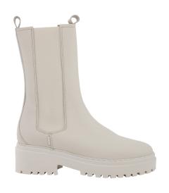 nubikk Hoge beige chelsea boots Nubbik