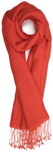 Natan edition 5 Donkeroranje sjaal met sliertjes Natan