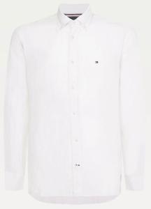 Tommy Hilfiger Wit hemd met geborduurd logo Regular Fit