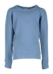 Morley Blauwe trui met plooitjes op de schouders