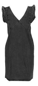 Pieces Zwarte jurk met ruffles
