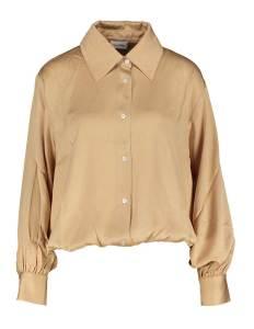 American Vintage  Bronskleurige glanzende blouse
