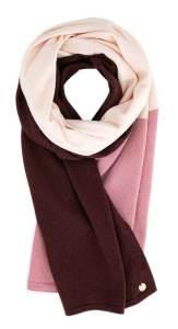 Xandres Brodeaux sjaal met lichtroze en lila GLARA
