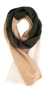 Xandres Kaki sjaal met ecru en beige GLARA