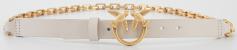 Pinko Ivoorkleurige riem met gouden details Day